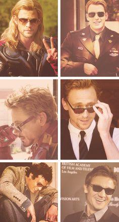 Avengers men and sunglasses