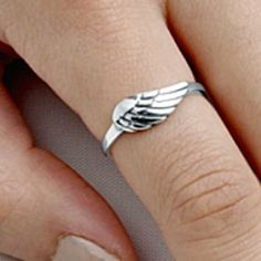 .925 Sterling Silver Ring size 7 Angel Wing Midi Knuckle Wings Ladies New p86 #Unbranded #Band