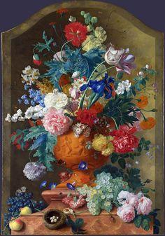Full title: Flowers in a Terracotta Vase Artist: Jan van Huysum Date made: 1736-7