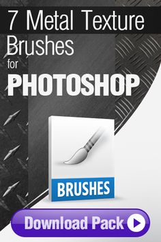 Photoshop Brushes: 7 Photoshop Brushes for Painting Metal http://pixelstains.net/7-photoshop-brushes-painting-metal/