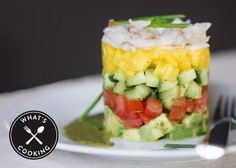Nordstrom recipe for the Bistro Crab Stack Salad with Cilantro Lime Vinaigrette; photo by Jeff Powell.