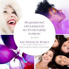 You are invited to a free, online event . an uplifting, inspirational weekend with 12 incredible business-savvy, life-smart women as we explore power and e. Ayn Rand, Smart Women, Motivational Pictures, You Are Invited, Happy Life, January 12, Invitations, In This Moment, This Or That Questions