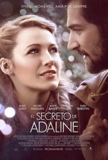 El secreto de Adaline... Romántica película rodada con cierto toque clásico, de una factoría muy cuidada y contada con gran sensibilidad. A destacar la interpretación de Ellen Burstyn, como la hija de Adaline, que está adorable en su papel...