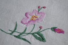 Vintage Doily  Embroidery   Sweet Flower  by Raspberrytreats