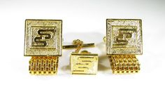 Cufflinks with Chevrolet Service Supremacy Award Gold Tone Wrap Around