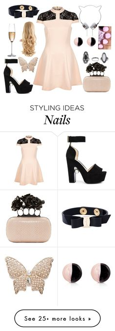 """Im loving Pastel goth this season."" by hayliemcullough on Polyvore featuring Alexander McQueen, River Island, Nicholas Kirkwood, Rogaska, Napier, Antica Murrina, OPI, Topshop and Salvatore Ferragamo"