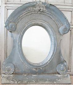 Antique French Oeil De Boeuf, Decorative Window, Mirror