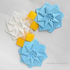 origami - mandalas plegadas en papel. Autoría: Tomoko Fuse