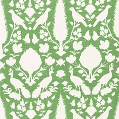 "The Chenonceau fabric reinterprets an antique French motif to create a classic design. Striking in aloe green and white, this linen textile's nature-inspired print delights on pillows, chairs or window panels. Made from 100% linen. This fabric is cut to order and is a final sale. Samples are available on loan by contacting swatches@laylagrayce.com. Dye lots may vary slightly from sample. 54""W. Horizontal repeat: 13.5""W. Vertical repeat: 22""H. Order in full-yard increments. Light upholstery…"