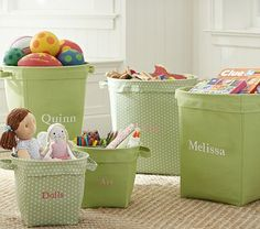 Green Canvas Storage #pbkids