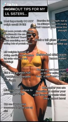 Summer Body Workouts, Body Workout At Home, Fitness Workout For Women, At Home Workout Plan, Easy Workouts, Fitness Tips, Girl Tips, Girl Advice, Teen Life Hacks