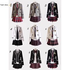 Japanese School Girl Costume Japan School Uniform girls Dress Cosplay Costume Anime long sleeve Suit coat Shirt with Pleated Skirt - Japan School Uniform, Cute School Uniforms, School Uniform Fashion, School Uniform Girls, Costumes Japan, Cosplay Costumes, Outfits For Teens, Cool Outfits, Lolita Cosplay
