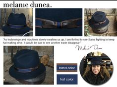 The amazing Melanie Dunea designed a limited edition collection hat for our kickstarter campaign. it's gorgeous!