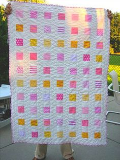 Pretty stash-buster quilt.  I'm going to have to make one of these...