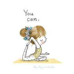 A fun to tote up yoga in your daily routine as a beginner yoga practitioner is to start as soon as the simple stances. is a great way to start your yoga practice yourself ilustraciones Yoga Motivation, Yoga Jobs, Frases Yoga, Yoga Cartoon, Citations Yoga, Yoga Illustration, Peaceful Life, Yoga Art, Yoga Quotes