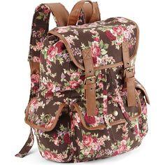 Olsenboye Floral Backpack ($24) ❤ liked on Polyvore