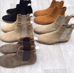 Crepe Sole or Leather Sole Handmade Chelsea Boots for any man. Tan Suede Chelsea Boots, Chelsea Shoes, Mens Chelsea Boots, Black Chelsea Boots Outfit, Mens Casual Leather Shoes, Leather Boots, Leather Outfits, Casual Boots, Dress Casual