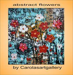 Original Abstract Painting Acrylic Painting by Carolasartgallery, $129.00