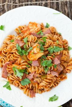 My new favorite pasta dish! Healthy Shrimp and Grits Style Pasta # ...