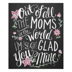 Happy Mothers Day Quotes : QUOTATION – Image : As the quote says – Description Mother's Day Card – Card For Mom – Chalkboard Art – Hand Lettering and Illustration By Valerie McKeehan- Chalk Art USD) by LilyandVal
