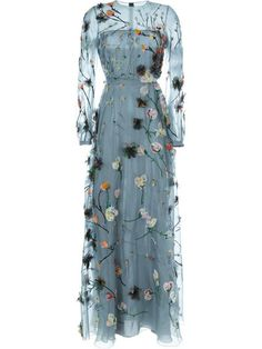 Valentino floral embroidered evening dress. <3