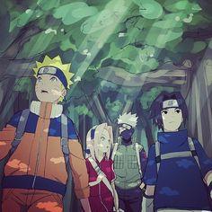 Anime: Naruto Personagens: Haruno Sakura, Uchiha Sasuke, Uzumaki Naruto