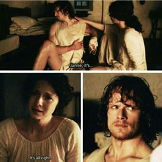 """Jamie it's... it's all right"" - Claire. OMG, here comes the tears. (T___T)"