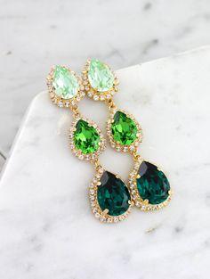 Emerald Green Chandelier, Green Chandelier Long Earrings, Green Emerald Statement Earrings, Greenery Bridal Jewelry, Peridot Dangle Earrings – Famous Last Words Pearl Stud Earrings, Pearl Studs, Bridal Earrings, Statement Earrings, Sterling Silver Earrings, Bridal Jewelry, Drop Earrings, Gold Earrings, Amethyst Earrings