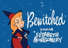 Bewitched 1960s cartoon title sequence art
