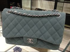 Chanel Grey Classic Jumbo Flap Bag