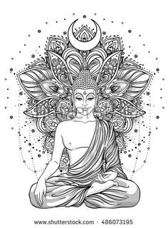 Sitting Buddha Statue over ornate mandala inspired pattern. Sitting Buddha Statue over ornate mandala inspired pattern. Inverno nadjainverno Malen Sitting Buddha Statue over ornate mandala […] tattoo indian Buddha Tattoo Design, Buddha Tattoos, Mandala Tattoo Design, Zen Tattoo, Tattoo Designs, Lotus Tattoo, Tattoo Ideas, Tattoo Ink, Hamsa Design