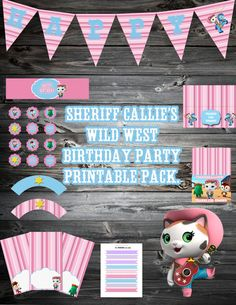 Sheriff Callie's Wild West Birthday by SweetHooplaCreations, $13.00