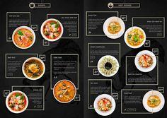 Food menu design Green Things green color r g b Korean Menu, Chinese Menu, Japanese Menu, Cafe Menu Design, Menu Card Design, Restaurant Menu Design, Restaurant Identity, Restaurant Restaurant, Stationery Design