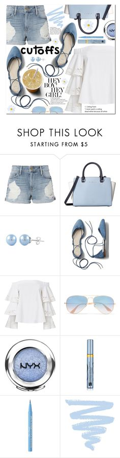 """Summer weekend🌞(TS 17-6-2017) Thank you PV😍"" by poopsie-plopsie ❤ liked on Polyvore featuring Frame, MICHAEL Michael Kors, Gap, Intermix, Ray-Ban, NYX, Estée Lauder and Too Faced Cosmetics"