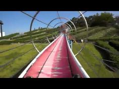 Monster slide made of hundreds of rollers
