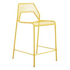 A metal counterstool crafted with steel wire mesh. Choose black, green, red, yellow, blue or white counterstool finishes. Wire Bar Stools, Kitchen Counter Stools, Bar Set Up, Home Kitchens, Mesh, Indoor, It Is Finished, Blue, Yellow