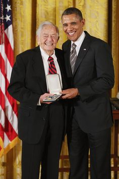U.S. President Barack Obama delivers remarks presents pioneering pediatrician Dr. Berry Brazelton the 2012 Presidential Citizens Medal, the nation's second-highest civilian honor, in the East Room of the White House February 15, 2013 in Washington, DC.