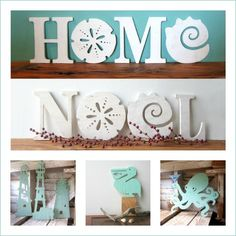 Whimsical wood signs made in Florida, including Beachy Christmas Signs: http://www.completely-coastal.com/2015/11/best-coastal-etsy-handmade-decor-usa.html
