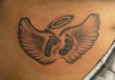 baby feet tattoo ideas | Baby Feet With Wings Tattoos Baby Feet Tattoos Ideas