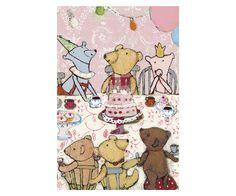 Teddys Party pink, Enkelt Kort