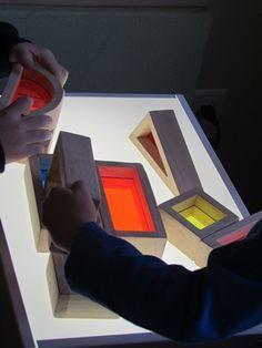 Exploring the light table in preschool   Teach Preschool