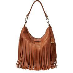 Frye Heidi Fringe Hobo Bag (3.165 DKK) ❤ liked on Polyvore featuring bags, handbags, shoulder bags, whiskey, fringe shoulder bag, leather hobo handbags, brown fringe purse, leather purse and hobo handbags