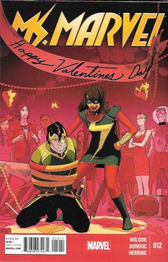 Loki In Love ____ G.Willow Wilson Writer , Art By Elmo Bondoc , Cover art Kris Anka , This Issue Is Near Mint Condition , The Story ..Love is in Jersey City as Valentine's Day arrives! Kamala Khan may