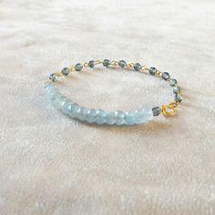 Healing Bracelet Third eye chakra crystal throat by ELSLondon