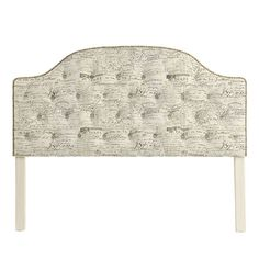 Camden Tufted Headboard with Brass Nailheads, FABRIC:  Document Brown