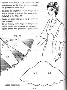 37 ideas for sewing tutorials clothes dress flutter sleeve Sewing Art, Dress Sewing Patterns, Love Sewing, Vintage Sewing Patterns, Clothing Patterns, Techniques Couture, Sewing Techniques, Sewing Sleeves, Modelista