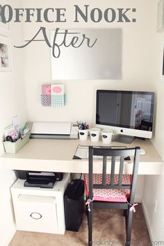 Upgrade an odd space into an organized office nook.