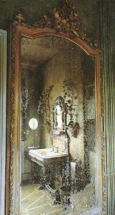 Love this antique mirror