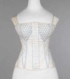 American cotton and bone corset 1830-35