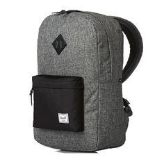 f81e02315b04 Herschel Heritage Backpack - Raven Crosshatch Black Black Pebbled Leather